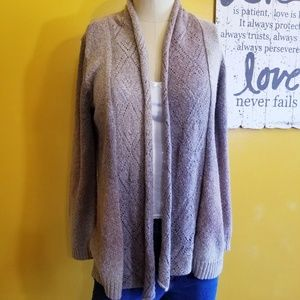 St John's Bay open front brown ombre cardigan